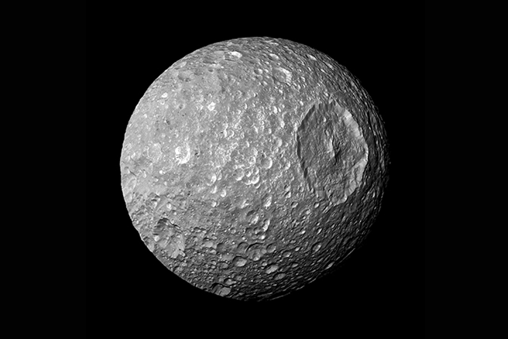Saturn's Moon Mimas, death star