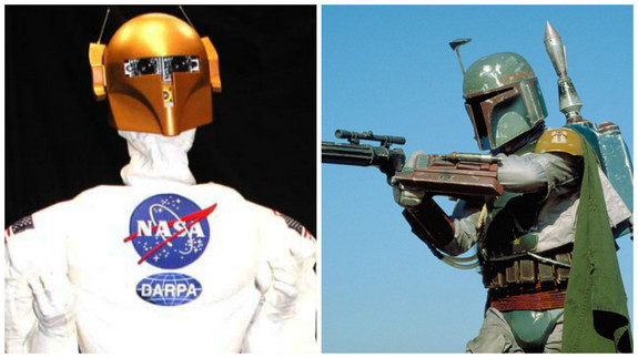 "The first-generation Robonaut looks more than a little bit like the bounty hunter Boba Fett from ""Star Wars."""