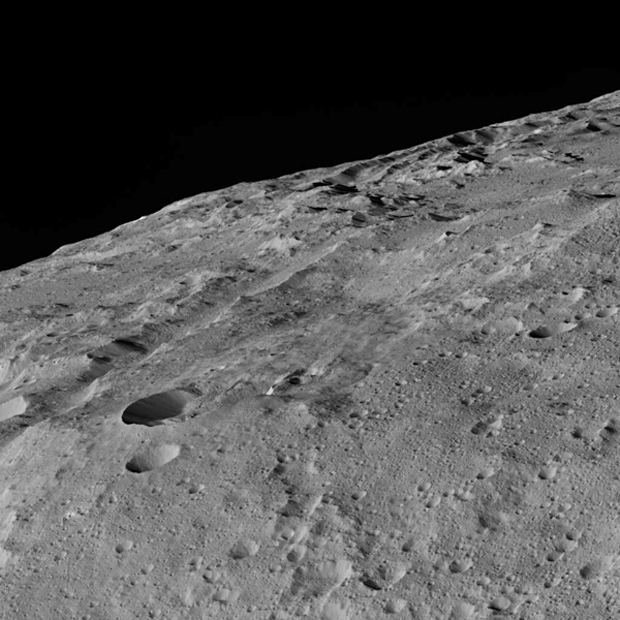Ceres' Surface Up Close