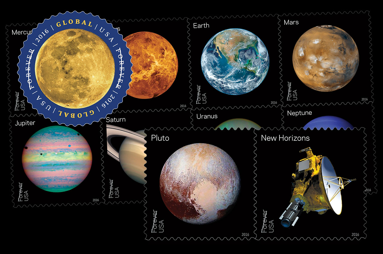 The Moon, Planets and Pluto to Feature on New US Postage Stamps in 2016