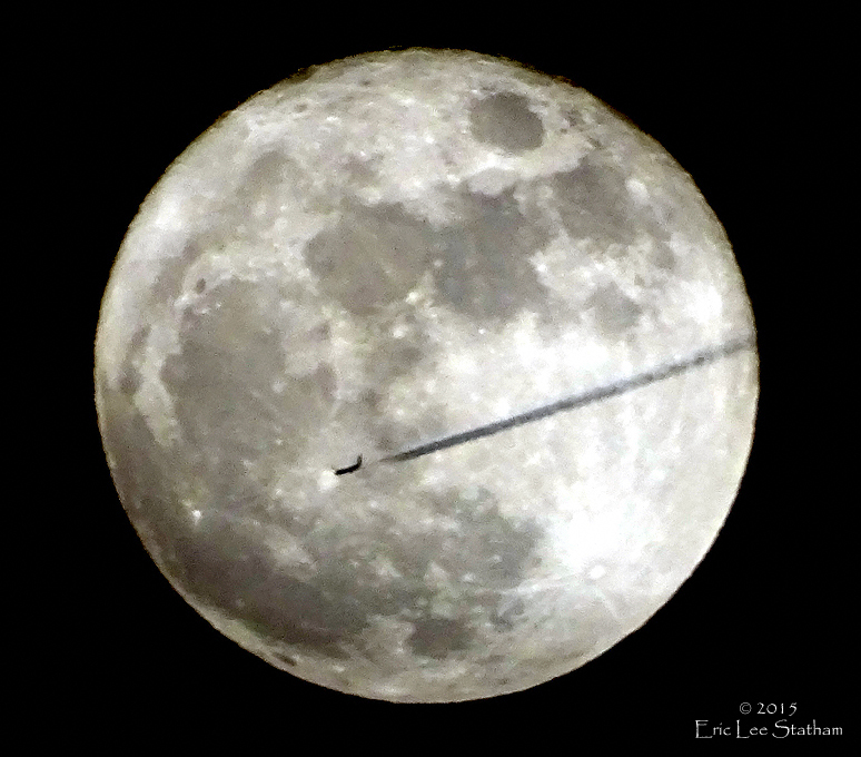 Plane and Moon by Statham