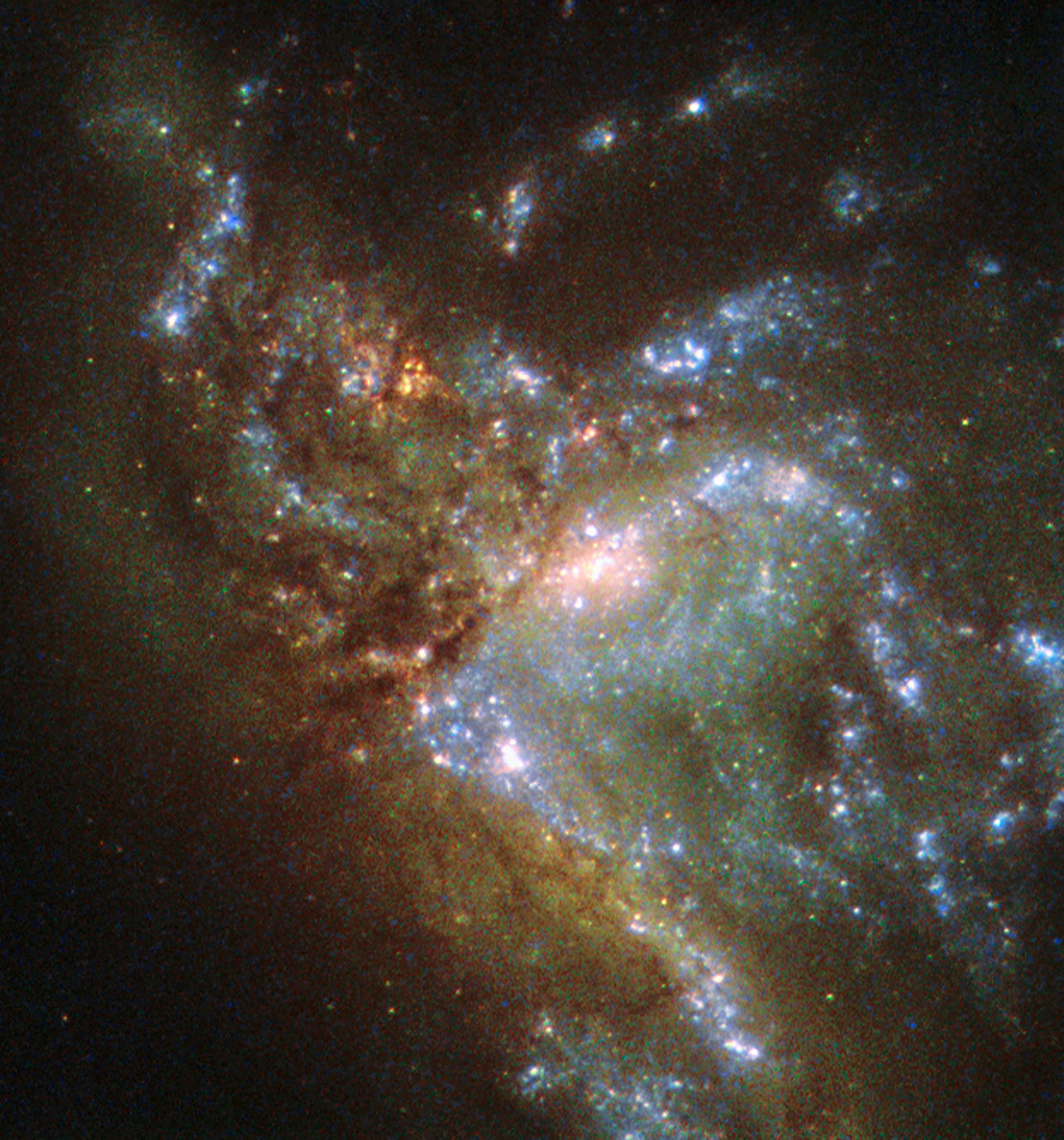 Distant Galaxy Merger Captured by Hubble Space Telescope (Photo)