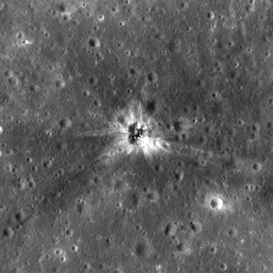 Impact Site of Apollo 16's S-IVB Booster Stage