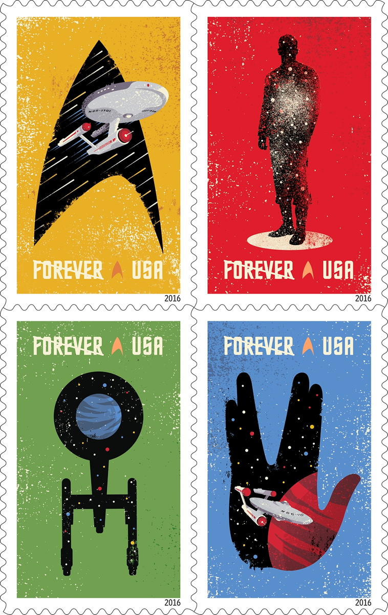 'Star Trek' Postal Stamps Beaming in for 50th Anniversary