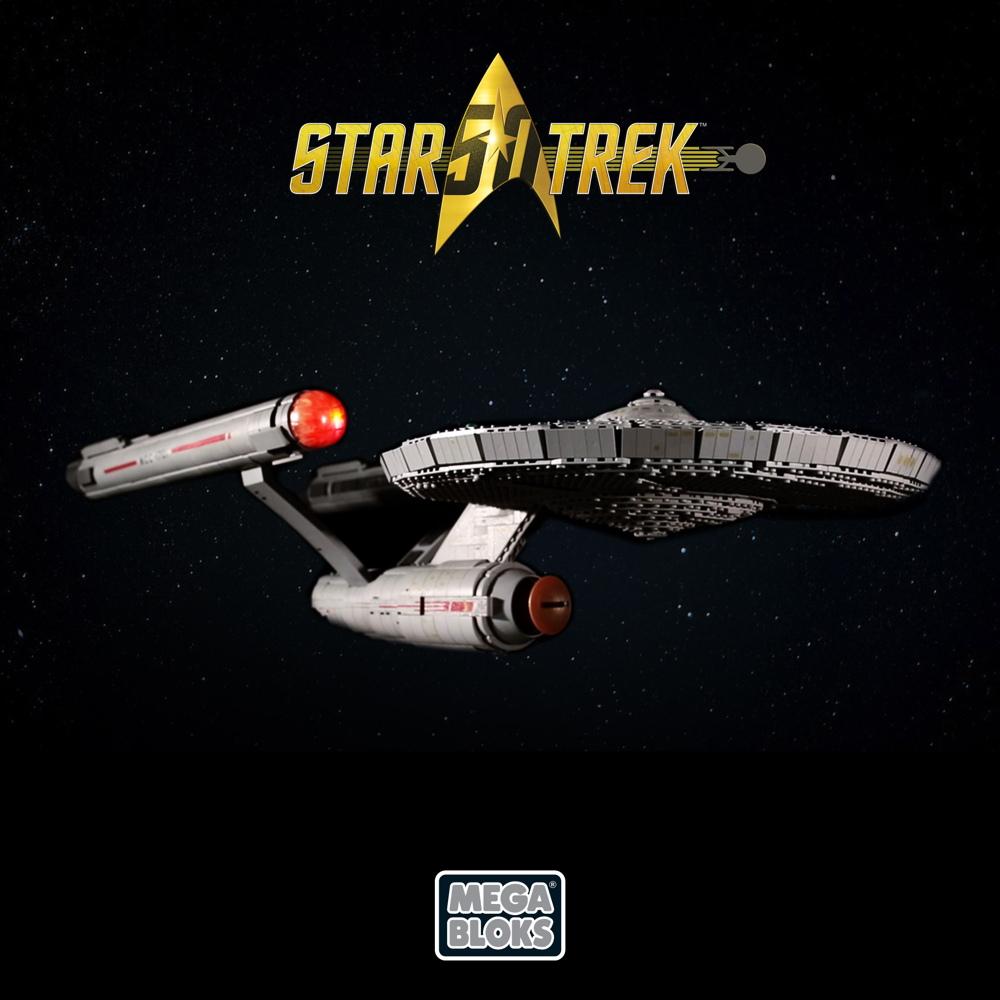 Build Your Own Enterprise! Celebrate 'Star Trek's' 50th with Mega Bloks
