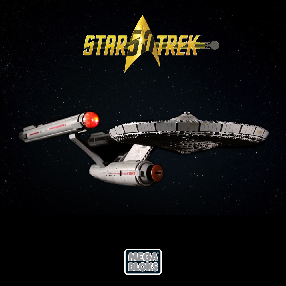 Build Your Own Enterprise! Celebrate 'Star Trek's' 50th with Mega Bloks