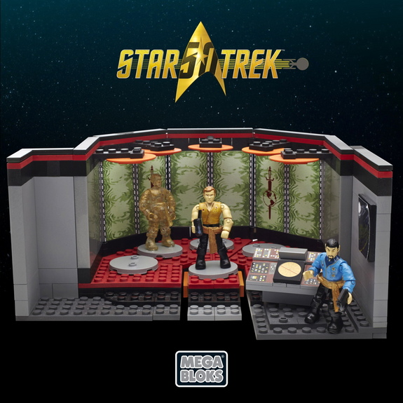"Mega Bloks' new Transporter Room set for 2016 recreates a scene from the iconic episode ""Mirror, Mirror,"" from the original series."