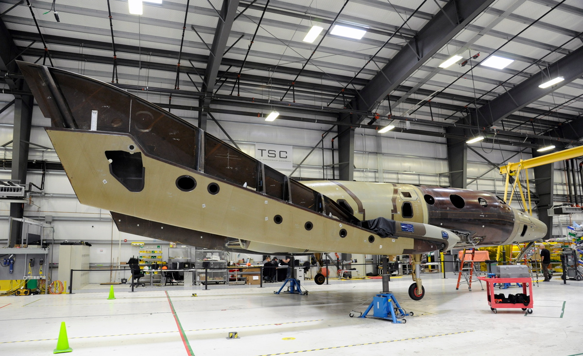 Virgin Galactic's Second SpaceShipTwo First Time on Landing Gear