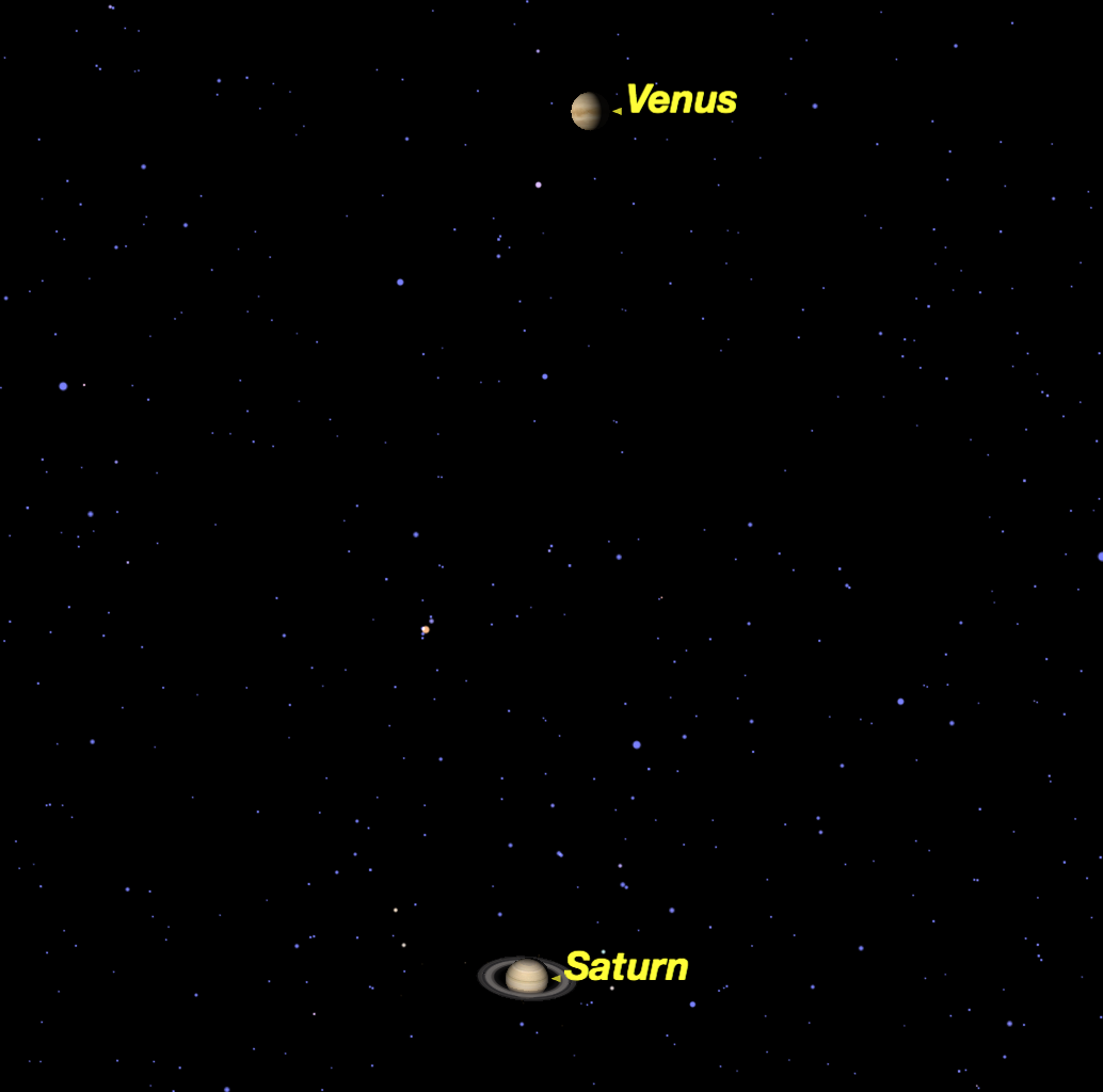 Venus Shines Near Saturn in Dazzling Display This Weekend
