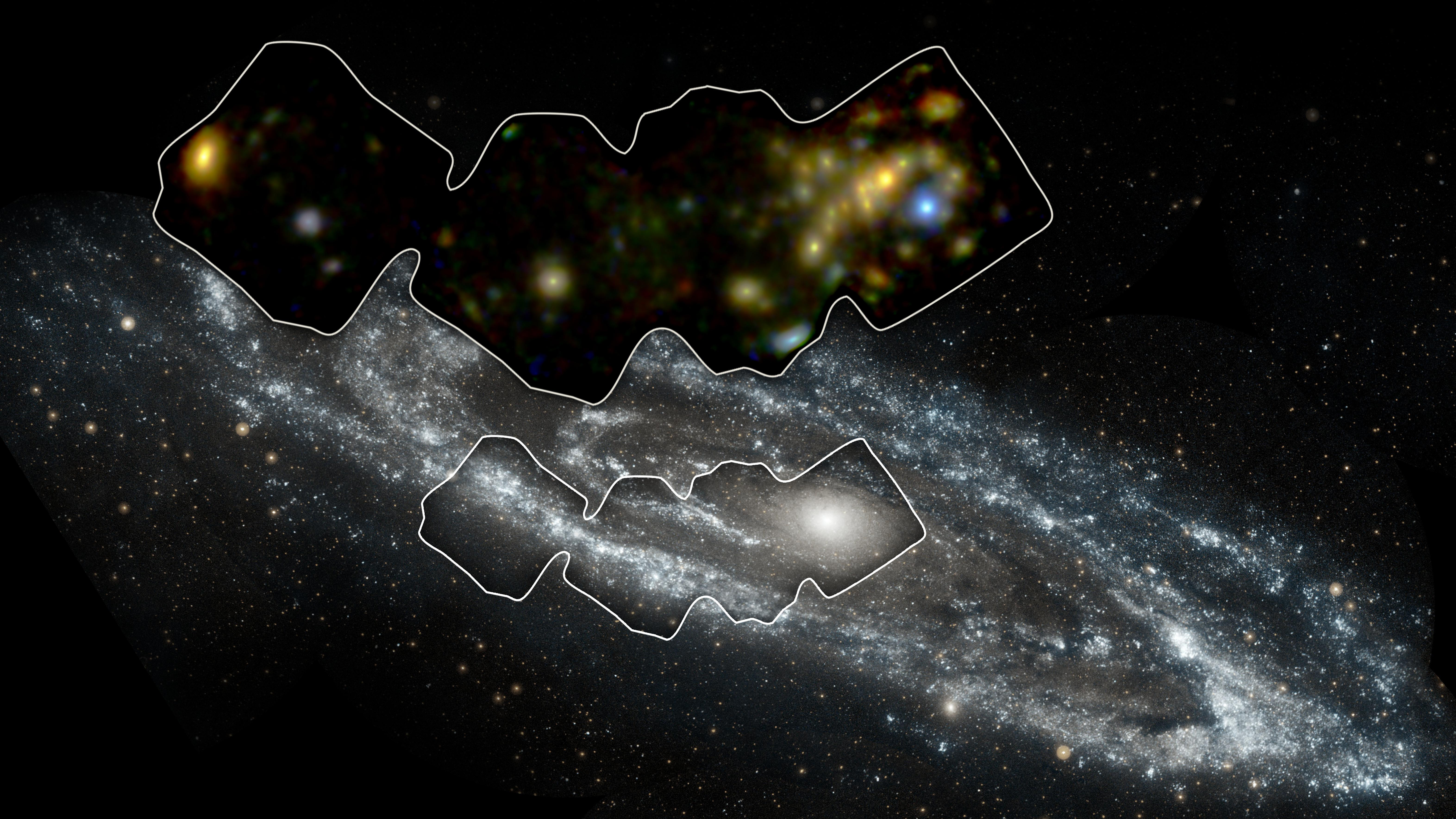 Nearby Black Holes Spied Gobbling Gas in Andromeda Galaxy (Photo)