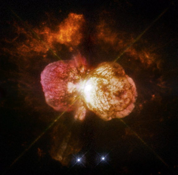 Astronomers cannot yet explain what caused the titanic eruption of star Eta Carinae in the 1840s.