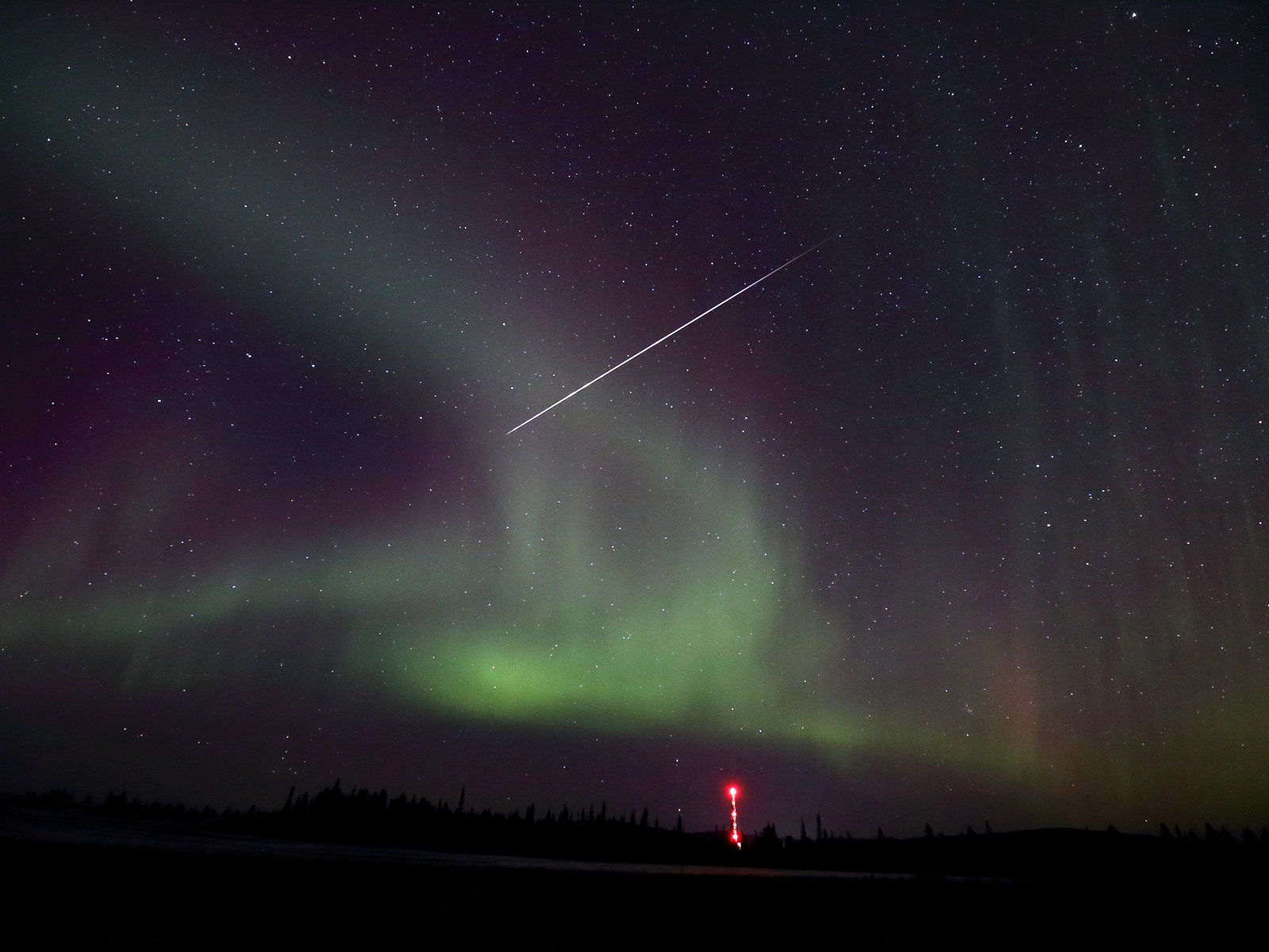 Northern Lights and Rocket Launches | Space Wallpaper