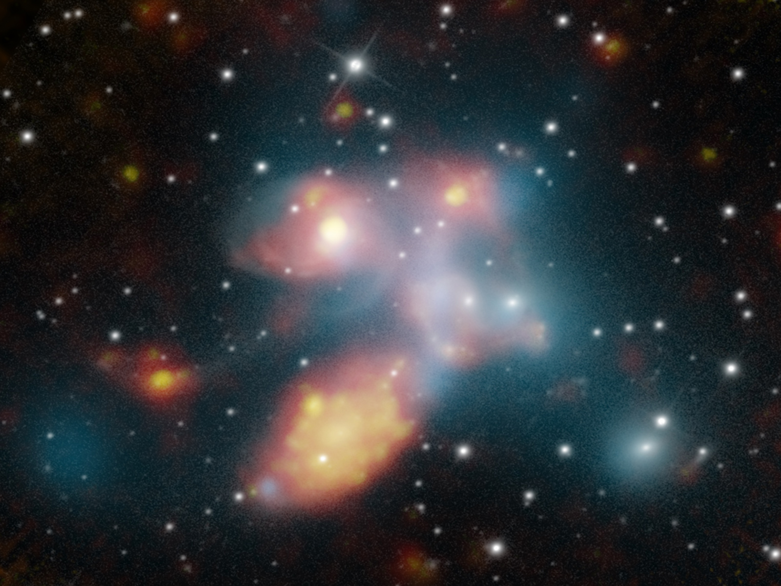 Stephan's Quintent: Galaxies Shimmering and Shining | Space Wallpaper
