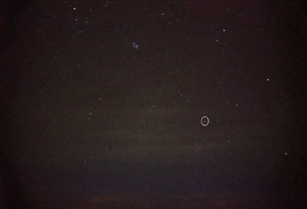 Quadrantid Meteor Seen from Balloon