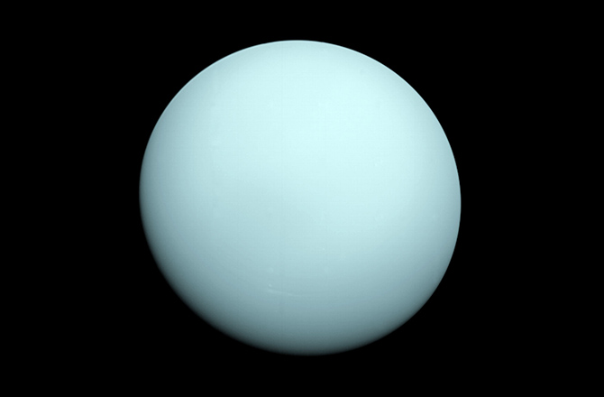 Full Sunlit Hemisphere of Uranus