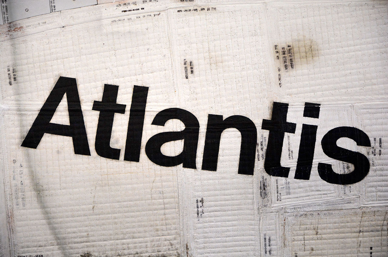 Atlantis' Name on Space Shuttle