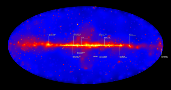 More than six years of observations by NASA's Fermi Gamma-ray Space Telescope  show the entire sky at energies billions to trillions of times greater than visible light.