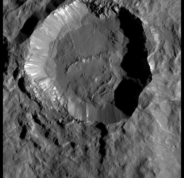 Craters on Dwarf Planet Ceres Shine in Stunning New Up-Close Photos