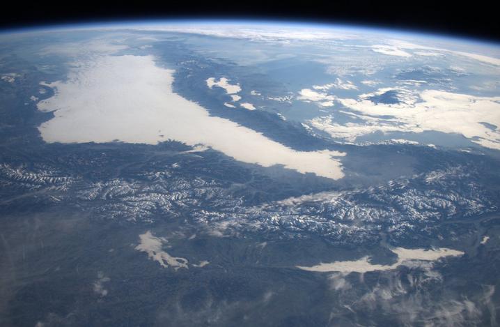 ESA Astronaut Tim Peake Alps From Space