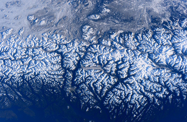 ESA Astronaut Tim Peake Sees a View of the Rocky Mountains