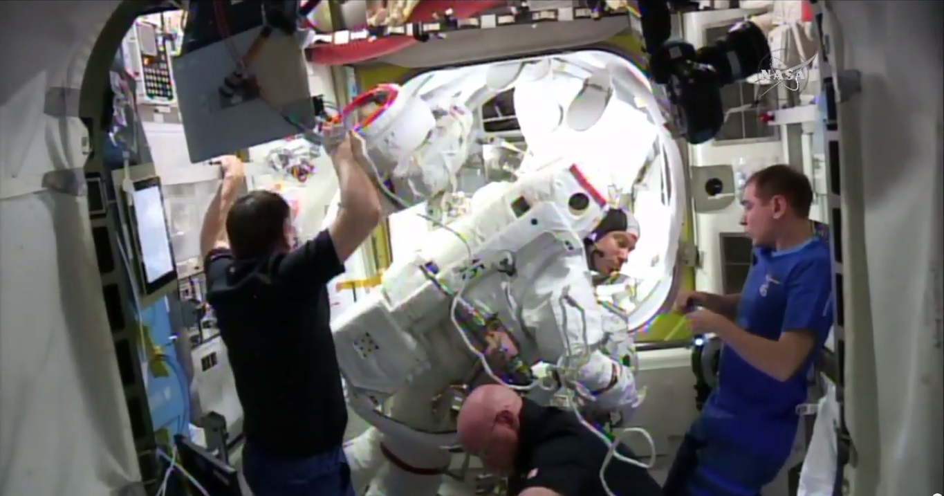 Water Leak in Astronaut's Spacesuit Helmet Halts Spacewalk