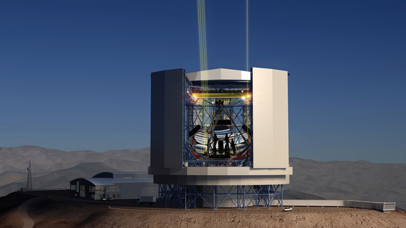 The Giant Magellan Telescope as it will look after construction on Cerro Las Campanas in Chile.