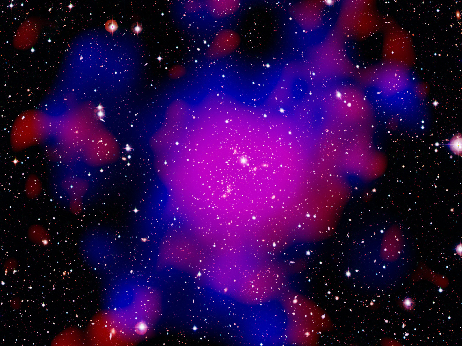 Connections in the Cosmic Web: Pandora Cluster | Space Wallpaper