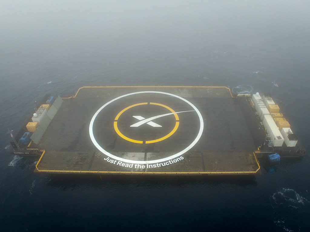 SpaceX's 'Drone Ship' Landing Pad at Sea