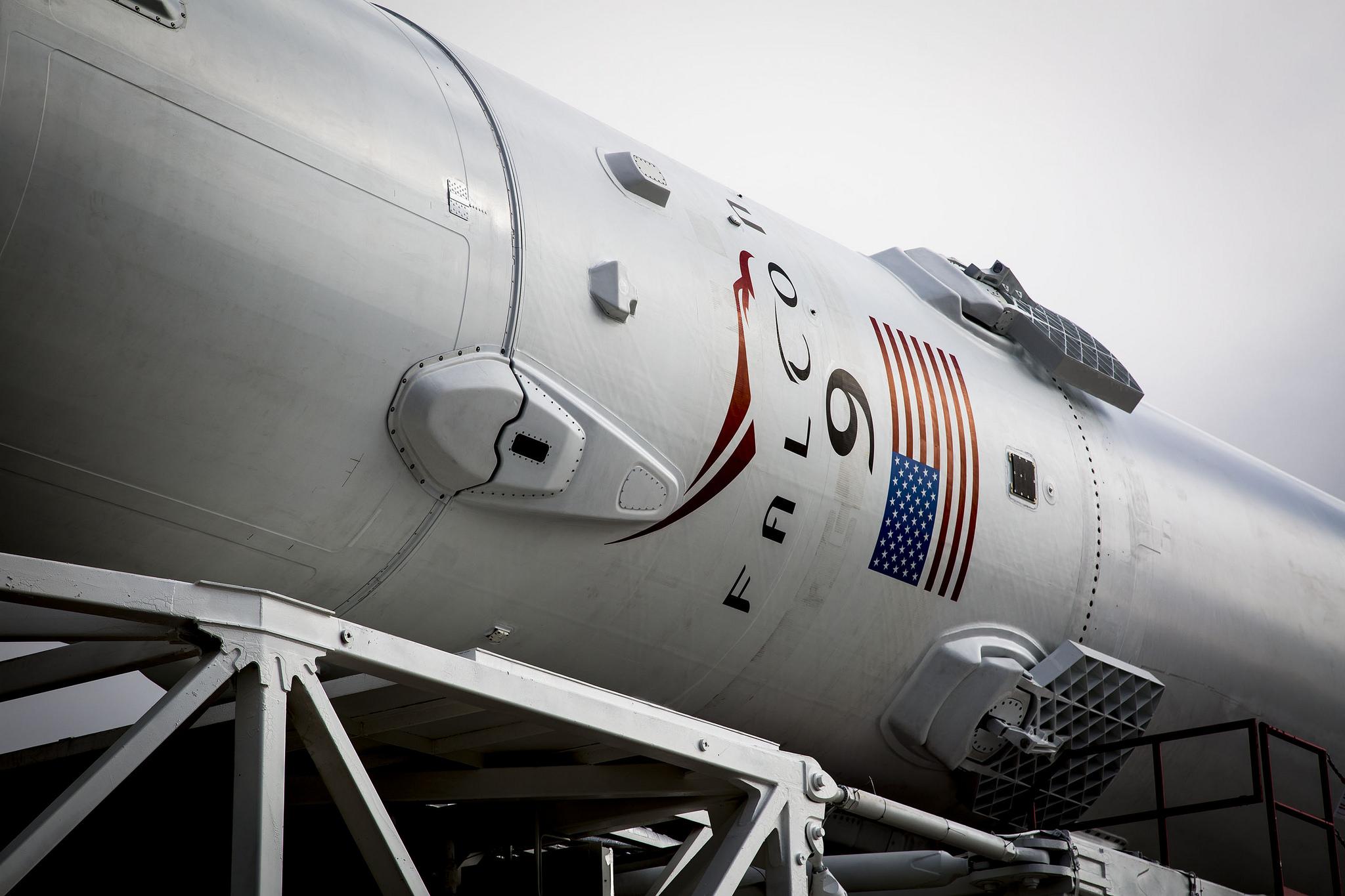 Falcon 9 Rocket Closeup for Jason-3
