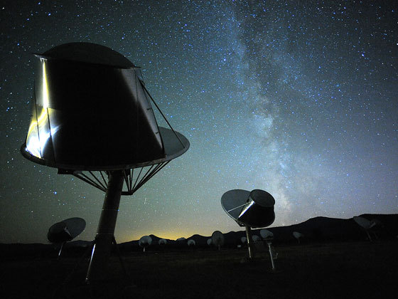 The ongoing search for extraterrestrial intelligence makes use of such instruments as the Allen Telescope Array in Hat Creek, California.