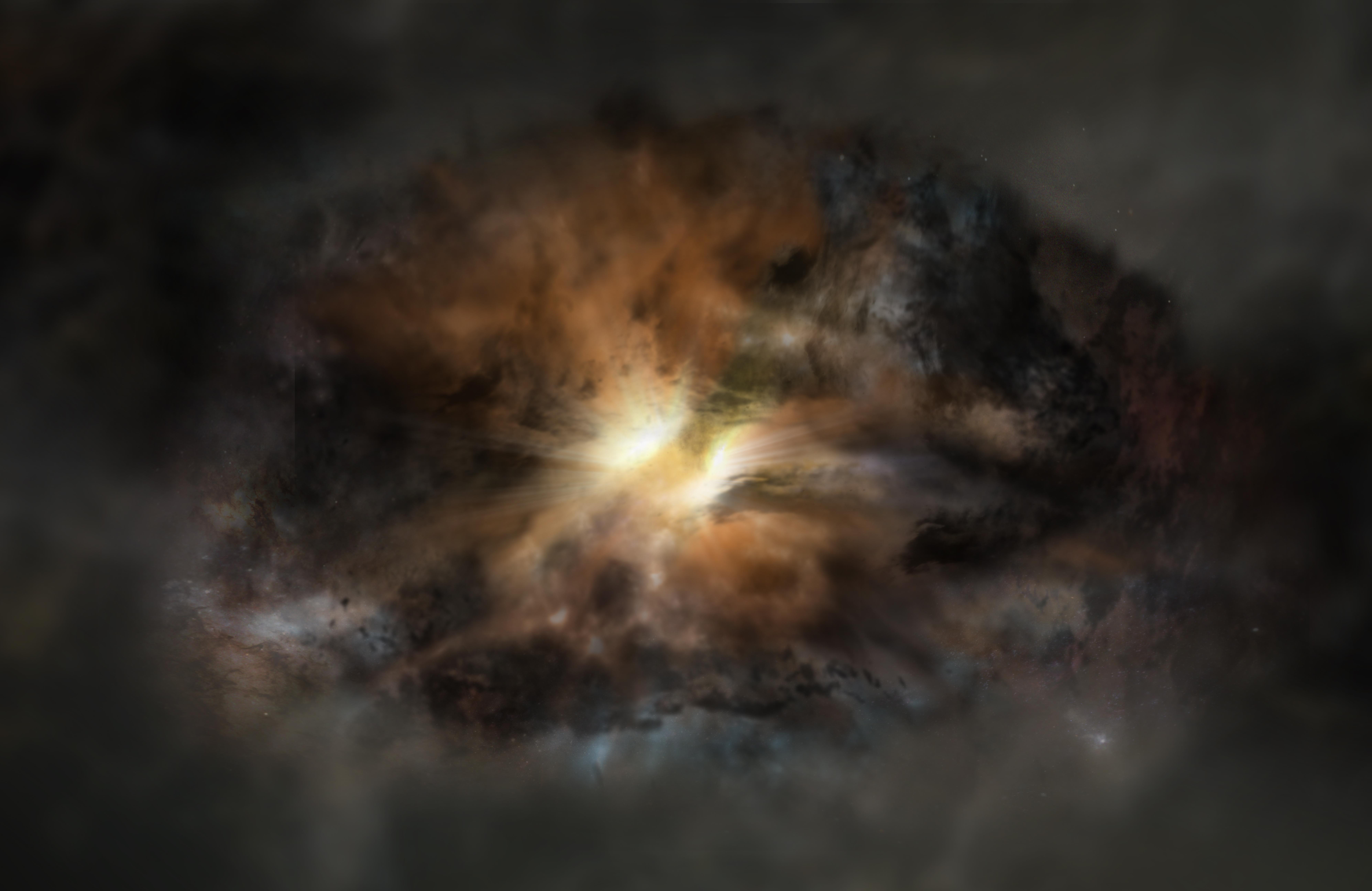 Luminous Galactic Explosion