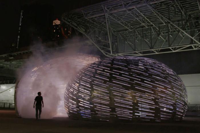 Sculpture Puts You In Orbit With Satellites