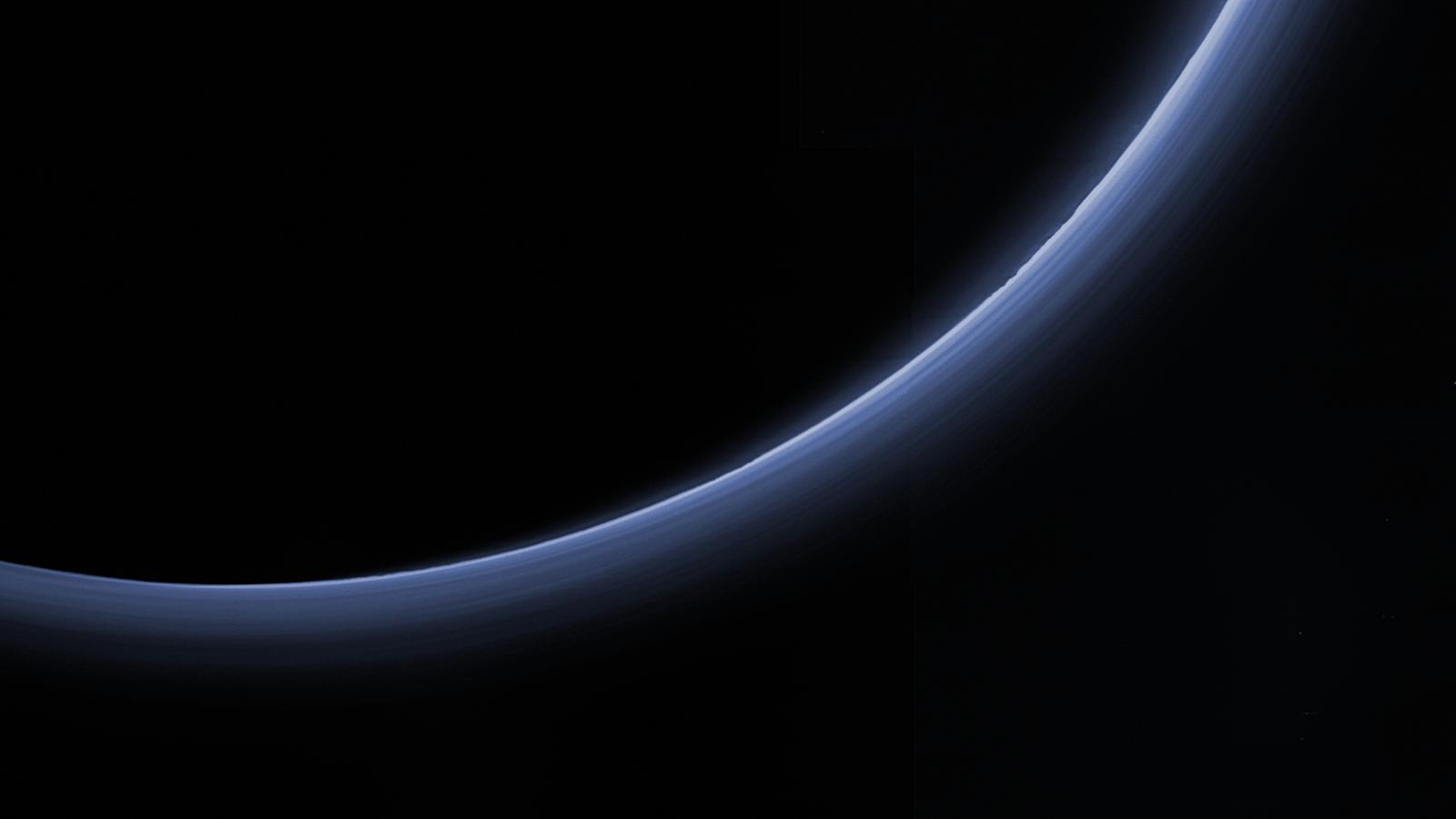 Pluto's Blue Bands Get High-Resolution Makeover