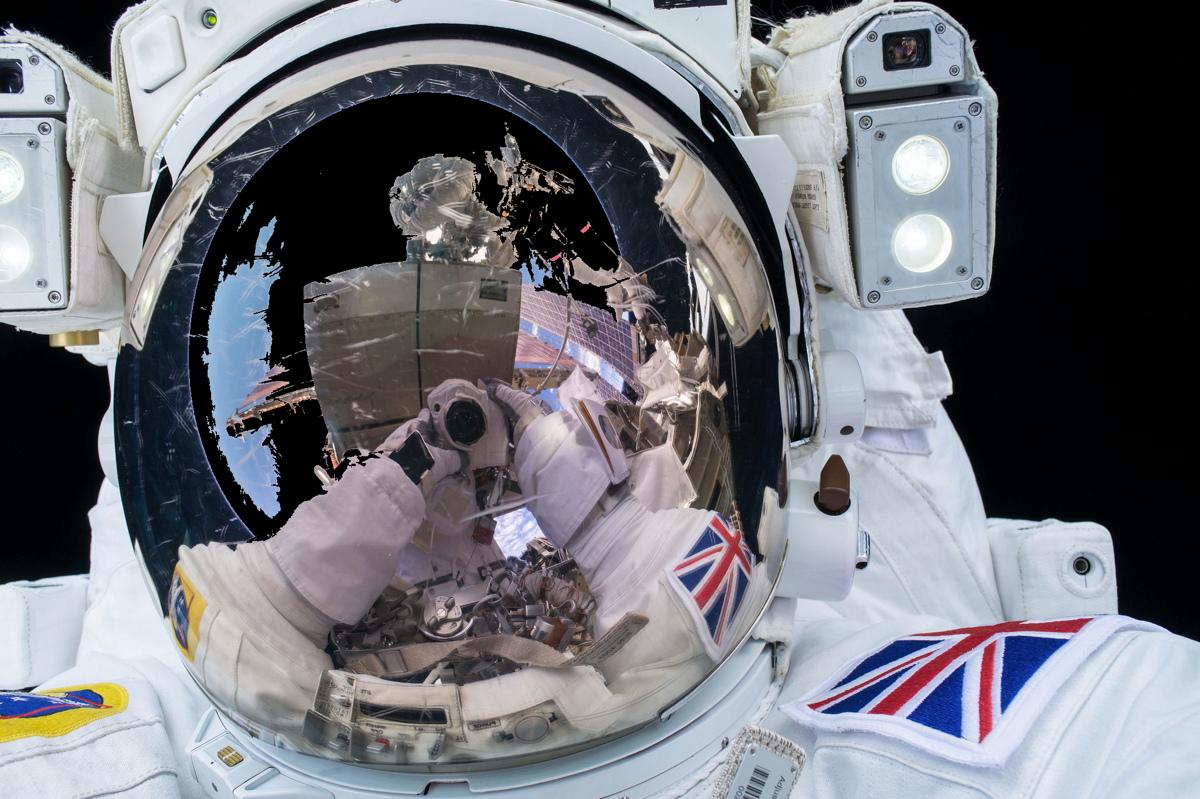 Tim Peake During Spacewalk Image