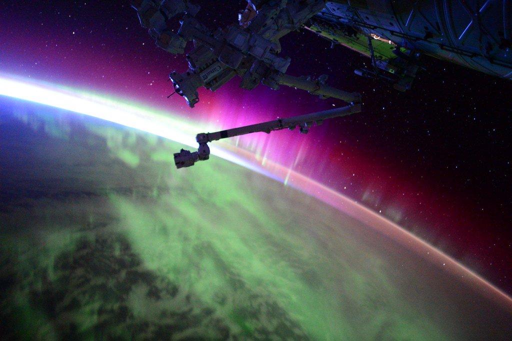 Aurora Solar Storm 2015 by Scott Kelly
