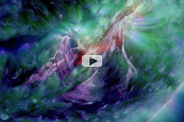 Matter Tears Through Sun's Atmosphere As Magnetic Filament Ruptures | Video
