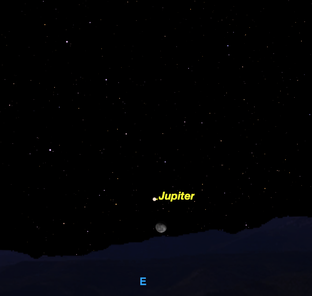 the moon and jupiter tonight - photo #39