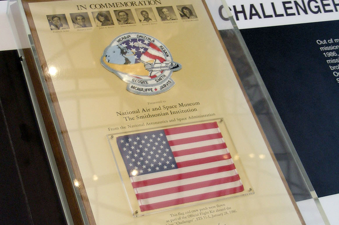 Space Shuttle Challenger's Fallen Flags and Patches, 30 Years Later