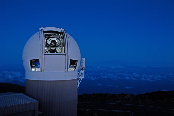 The Panoramic Survey Telescope & Rapid Response System (Pan-STARRS) 1 telescope on Mount Haleakala in Maui, Hawaii, made the greatest number of near-Earth object discoveries in the NASA-funded NEO surveys from 2015.