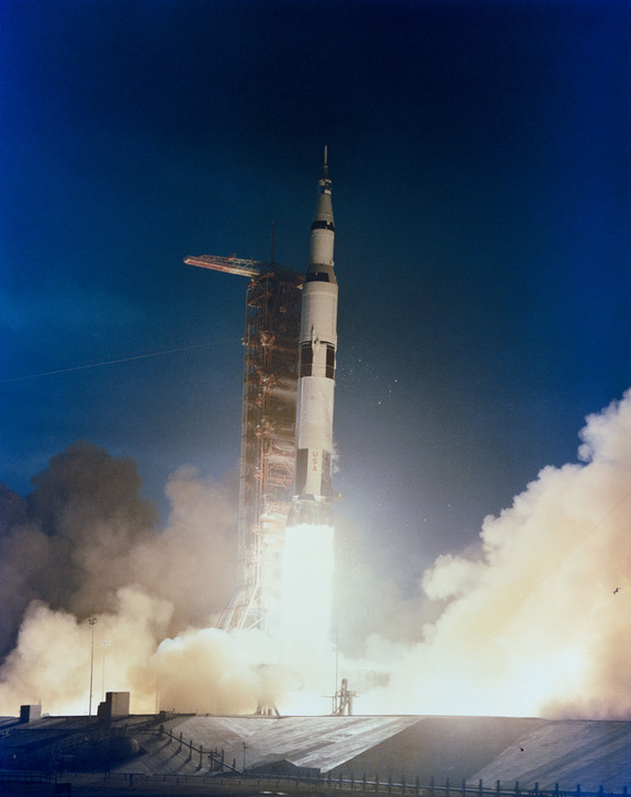 Apollo 14 lifts off on Jan. 31, 1971.
