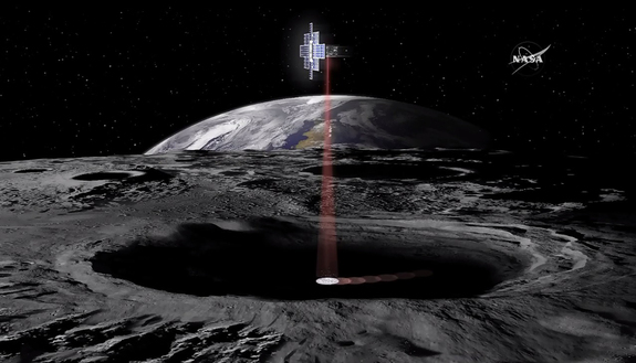 The Lunar Flashlight mission will fly in 2018 on NASA's Space Launch System rocket and will make several passes around the moon to search for ice deposits.