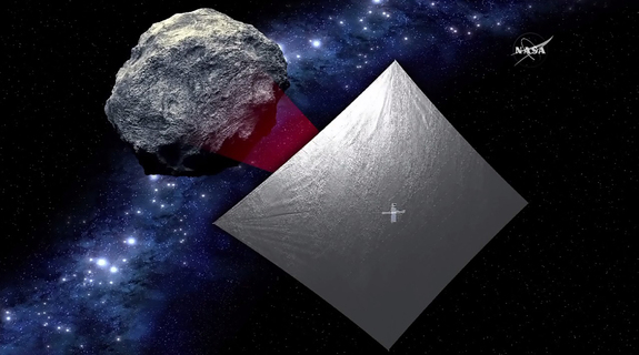 The Near-Earth Asteroid Scout mission will explore the asteroid 1991VG after it's lifted to space aboard NASA's Space Launch System in 2018. To reach the asteroid, it will be propelled by a large solar sail.