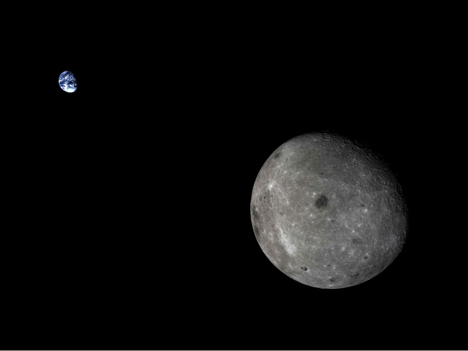 Our Little Blue Marble and Its Moon | Space Wallpaper