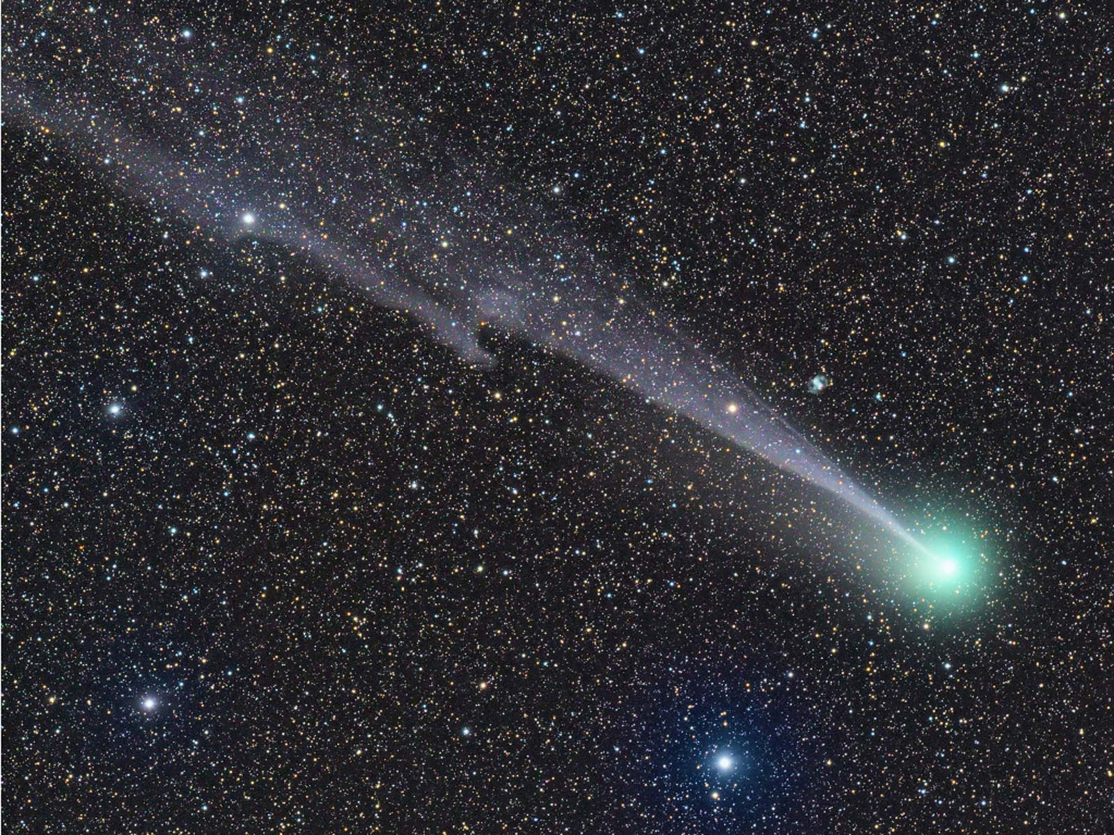 Wispy, Warped Tail of Comet Lovejoy | Space Wallpaper