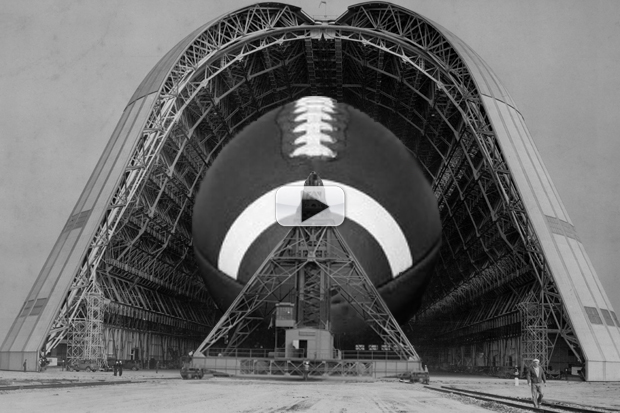 Super Bowl 50 Stadium Sports Wood From NASA Hangar | Video