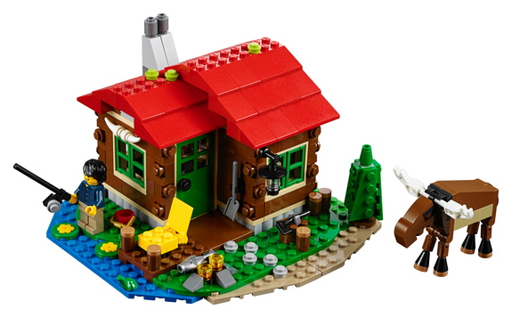 This lego quot lakeside lodge quot set can also convert into a space