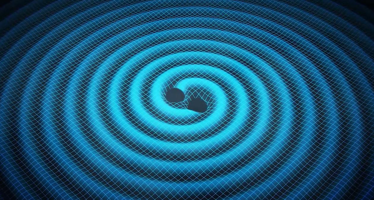 Merging Black Holes Create Gravitational Waves
