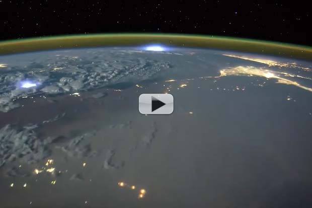 Lightning's Dance With Airglow Seen From Space | Time-Lapse Video