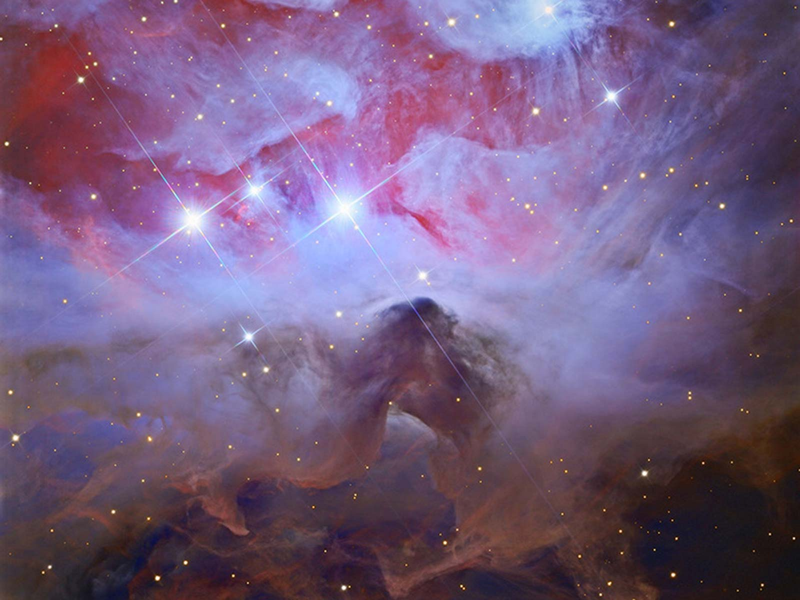 Running from Beauty: A Darker Side of Orion | Space Wallpaper