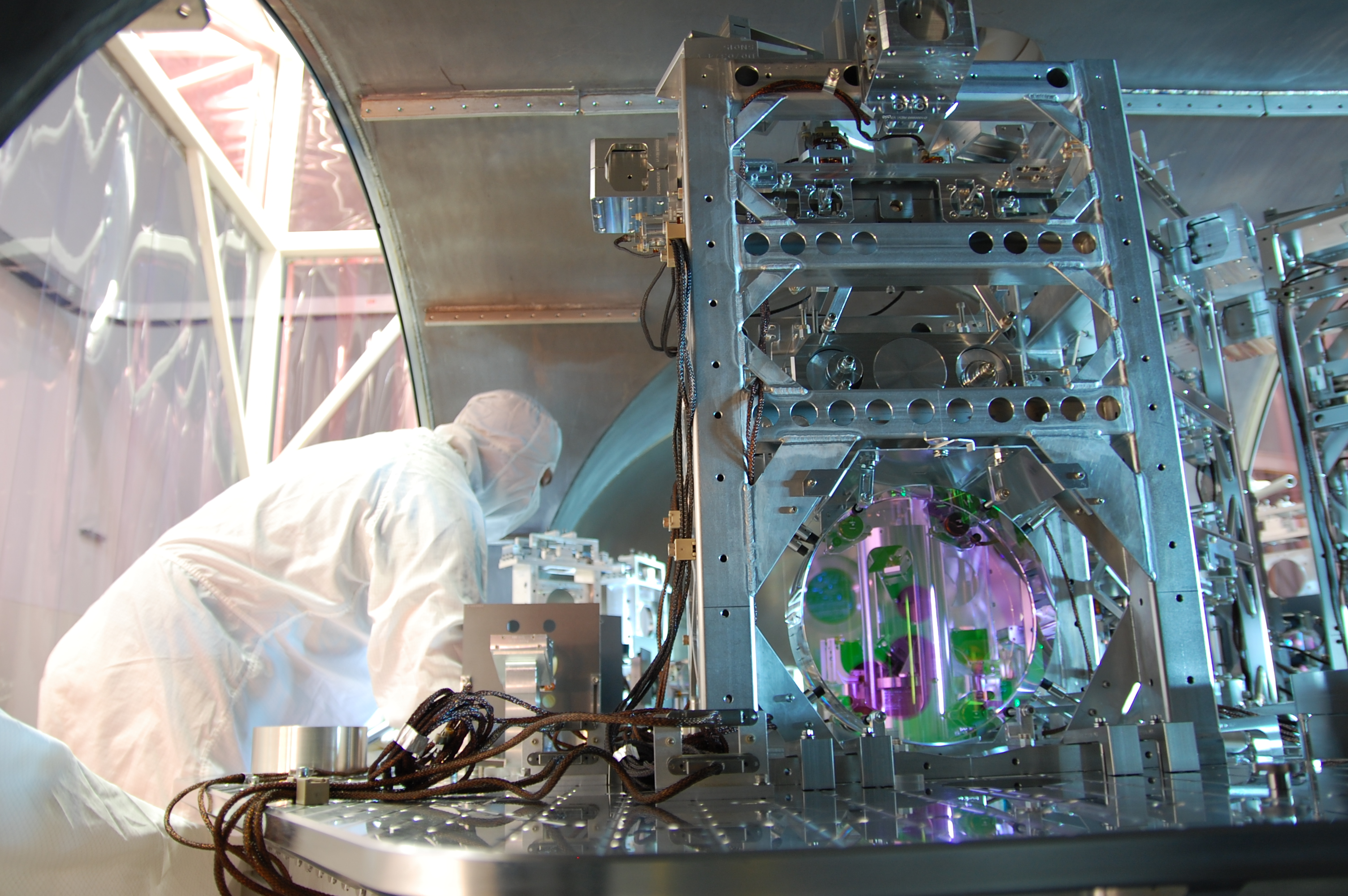 Technician Working on LIGO Detector